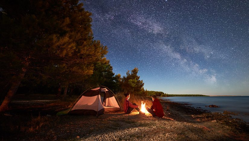 Où peut-on camper près du Bassin d'Arcachon ?
